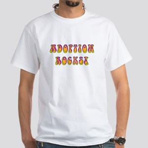 Adoption Rocks Men's White T-Shirt